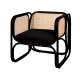 Latitude Lounge Chair Black/Natural