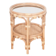 Rising Sun Side Table / Gold Mirrored Glass