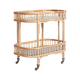 Rising Sun Bar Cart With Gold Mirrored Glass